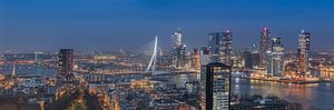 Panorama skyline Rotterdam (kleur) van