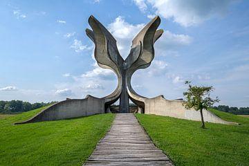 monument aux fleurs sur Kristof Ven