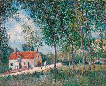 De weg van Moret naar Saint-Mammès, Alfred Sisley