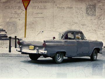 Old taxi von Nannie van der Wal
