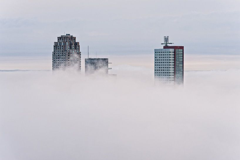 New Orleans, World Port Center en Montevideo | Mist Rotterdam van Rob de Voogd / zzapback