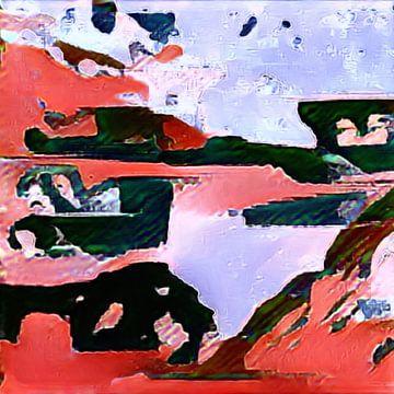 Abstrakt in rot blau schwarz von Maurice Dawson