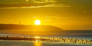 Opaalkust zonsondergang van