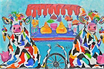Koeien en ijsjes van Kunstenares Mir Mirthe Kolkman van der Klip