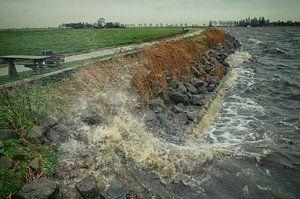 Winterstorm op de Oudegaaster Brekker (2) van