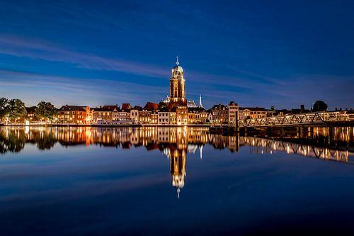 Skyline van Deventer in de avond van Sander Korvemaker