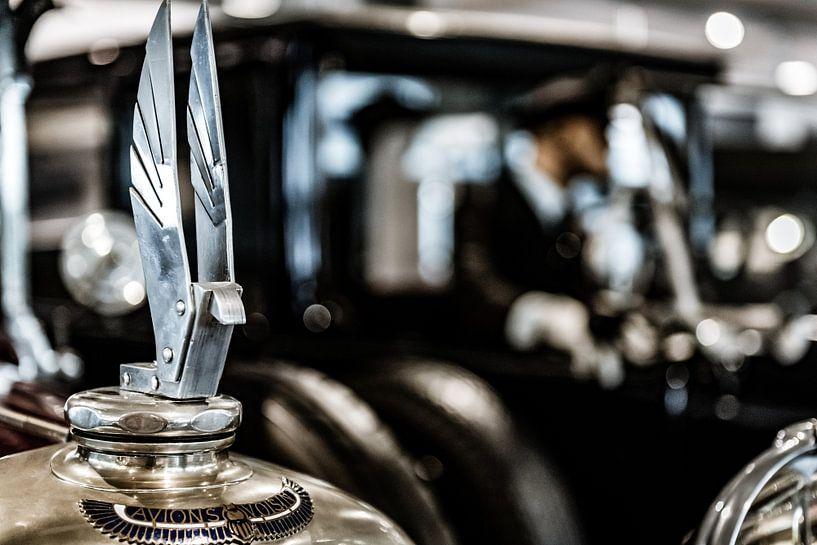 Radiator ornament van een Avions Voisin van autofotografie nederland