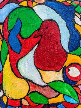 Abstracte vogel van Lida Bruinen