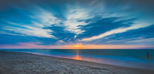 Zonsondergang strand Domburg II van