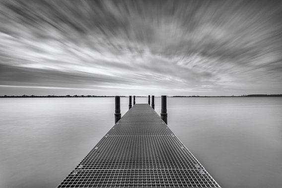 Een mooie zwart-wit compositie van stijger