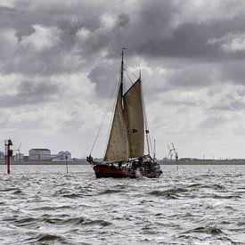 Voiliers néerlandais dans la mer des Wadden sur Roel Ovinge