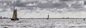 Segelboote  in Harlingen im Wattenmeer