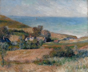 Vue sur la côte près de Wargemont en Normandie, Auguste Renoir sur