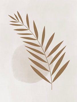 Moderne abstracte kunst - Goud Takje van Studio Malabar