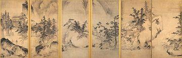 Tensho Shubun - Winter- und Frühlingslandschaft