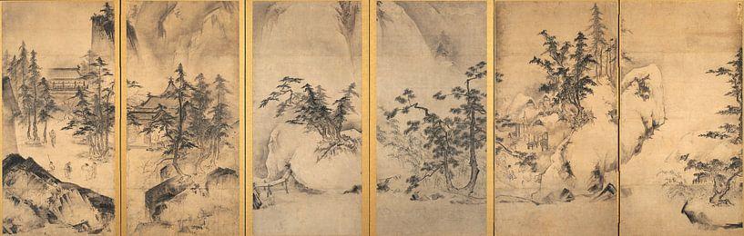 Tensho Shubun - Winter- und Frühlingslandschaft von 1000 Schilderijen