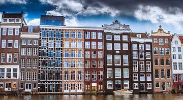 grachtenpanden in Amsterdam van Hamperium Photography