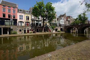 Oudegracht met Geertebrug in Utrecht