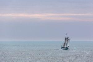 Zeilen op de Waddenzee van