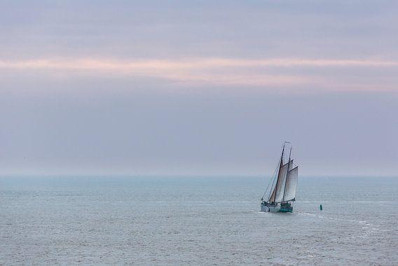 Zeilen op de Waddenzee