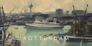 SS Rotterdam verlaat de haven van Rotterdam van Nop Briex