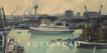 SS Rotterdam verlässt den Hafen von Rotterdam