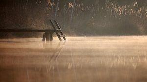 Holzsteg im Wasser van