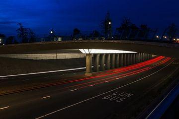 Lighttrails in Leiden sur