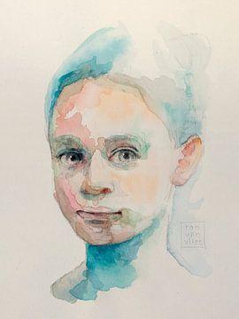 Portret van een meisje van Ron van Vliet