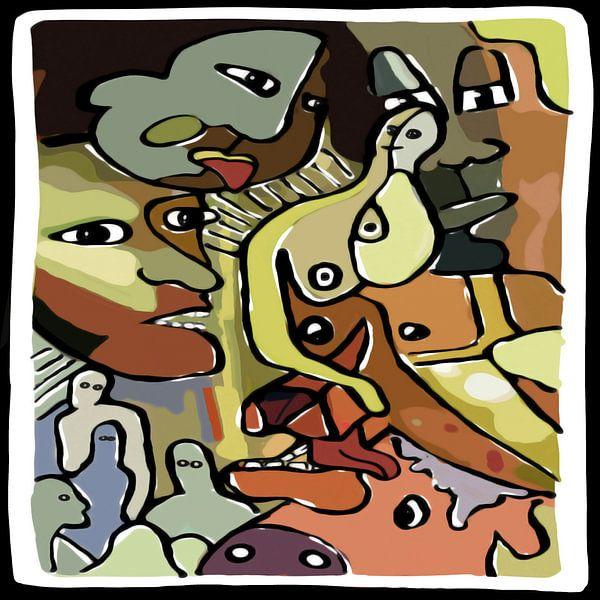 Lustobject in matte kleuren van Henk van Os