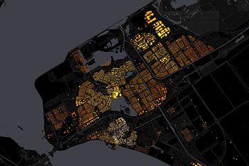 Kaart van Almere abstract van