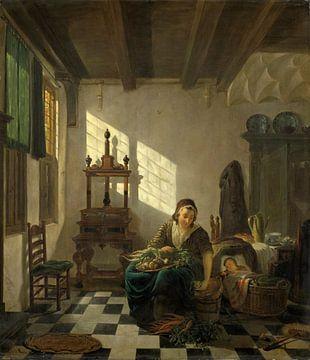 De huisvrouw, Abraham van Strij