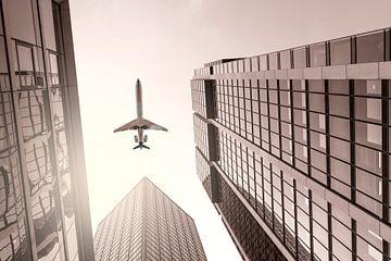 Schwarzweißfotografie Flugzeug von Thomas Heitz