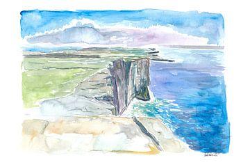 Inishmore Cliffs mit Dun Aonghasa Fort Aran Inseln Irland