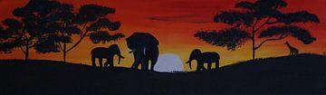 Savanne - Elefanten van Babetts Bildergalerie