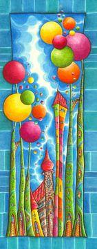 Bubblegum - Blauw - Kunst voor Kinderen van