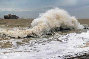 Golven aan Zee van Henk Verstraaten