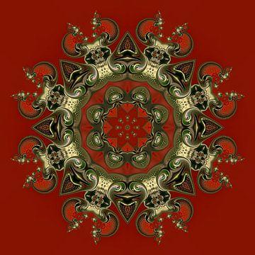 Consensuele symmetrie in rood van Hugh Fathers