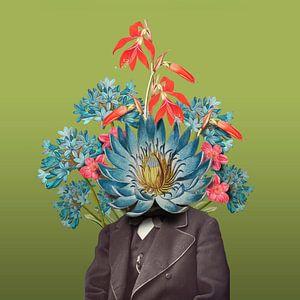 Zelfportret met bloemen 6