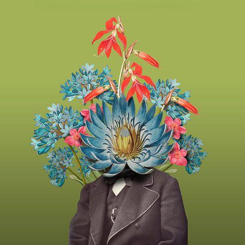 Zelfportret met bloemen 6 von toon joosen