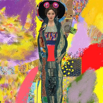 Gabriella portret naar muze Gustav Klimt van Nicole Habets