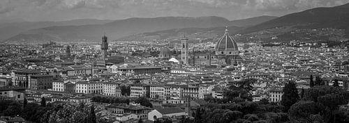 Monochrome Tuscany in 6x17 format, skyline Florence