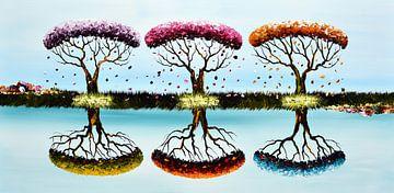 Blue Seasons von Gena Theheartofart