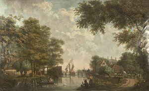 Drie behangselschilderingen van een Hollands landschap, Jurriaan Andriessen