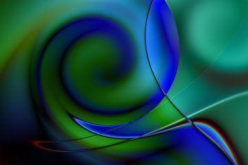 blauwe hoop van Claudia Gründler