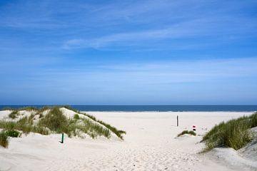 Toegang tot het strand met zee op het eiland Baltrum van Anja B. Schäfer