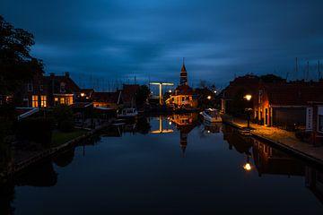 Hindeloopen ein schöner Ort am Abend von Damien Franscoise