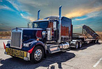 Amerikaanse Truck. Kenworth, Vrachtwagen. van Gert Hilbink