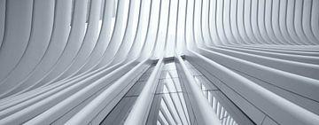 Ein Panorama der Oculus World Trade Center Transportation Hub Station am Ground Zero in Manhattan, N von Bas Meelker