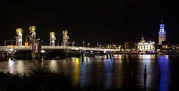 River Bridge in the Historical City of Kampen, Overijssel, Nethe von Marcel van den Bos